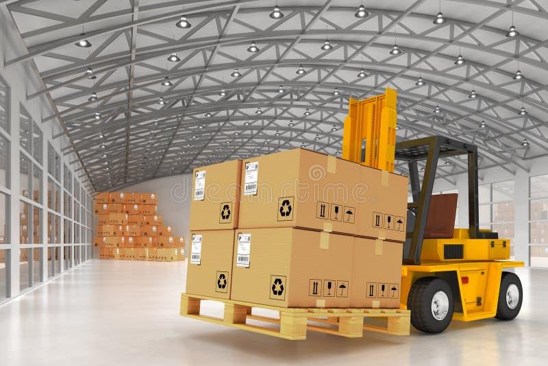 储藏后勤学、包裹发货、交付和装货概念 皇族释放例证