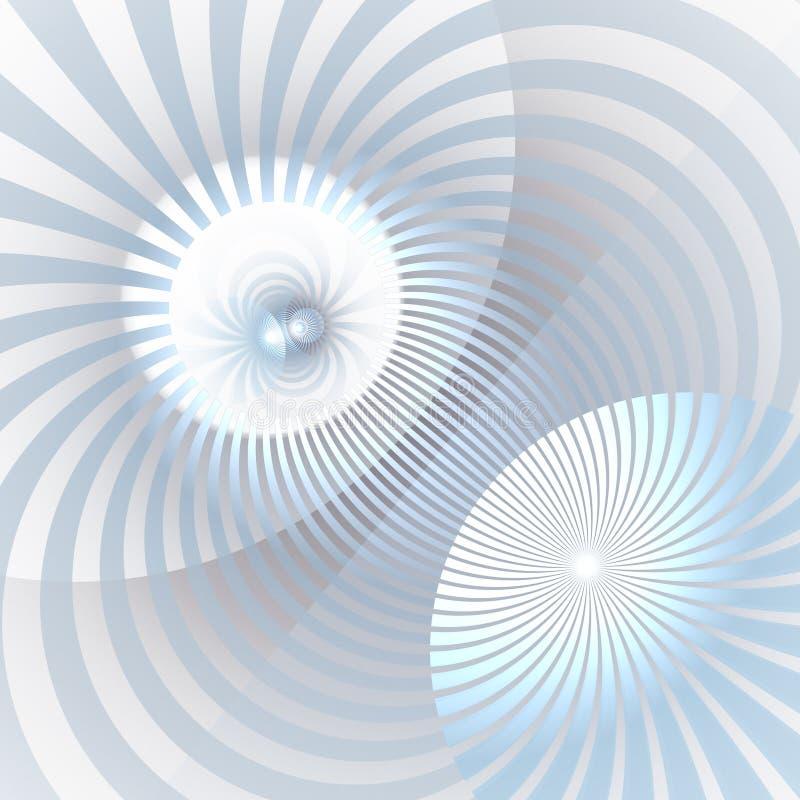 催眠和充满活力的颜色光芒背景 抽象螺旋形涡流 光芒四射的光束旋涡 库存例证