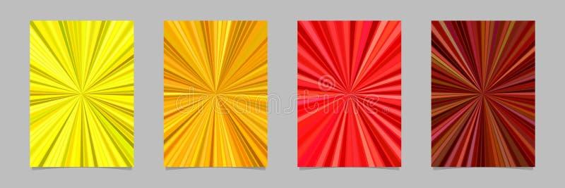 催眠抽象光芒爆炸条纹飞行物背景模板设置了-导航文具图表 皇族释放例证