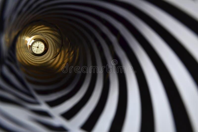 催眠时钟 库存照片
