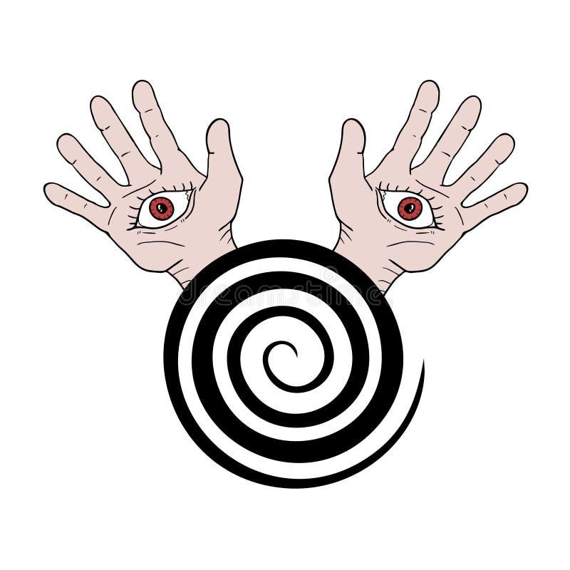 催眠状态标志 库存例证