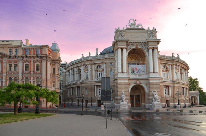 傲德萨国家歌剧院剧院 免版税库存照片