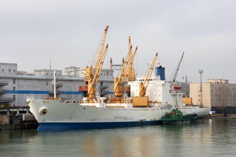 傲德萨端口海运 库存图片