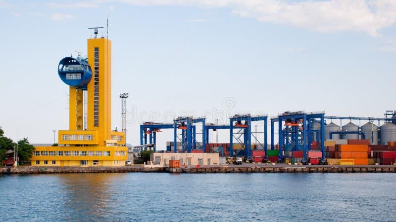 傲德萨端口海运 免版税库存图片