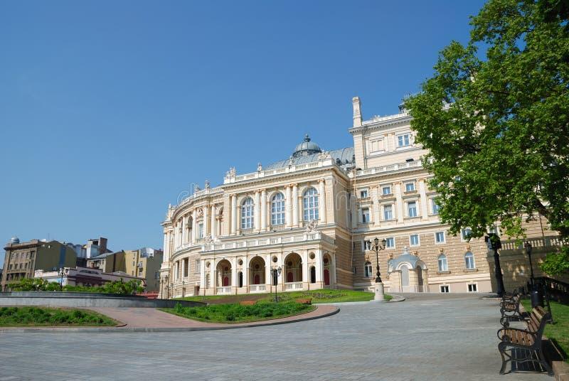 傲德萨老歌剧剧院乌克兰 免版税图库摄影