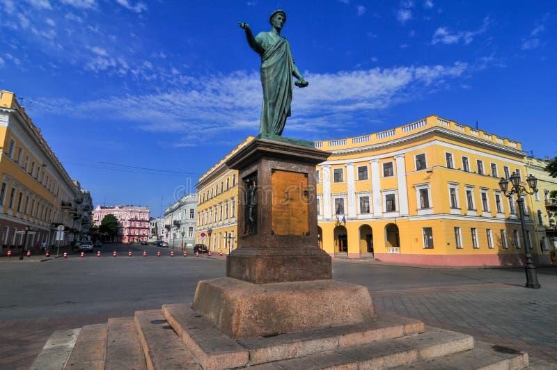 傲德萨,乌克兰公爵Richelieu -雕象  库存照片
