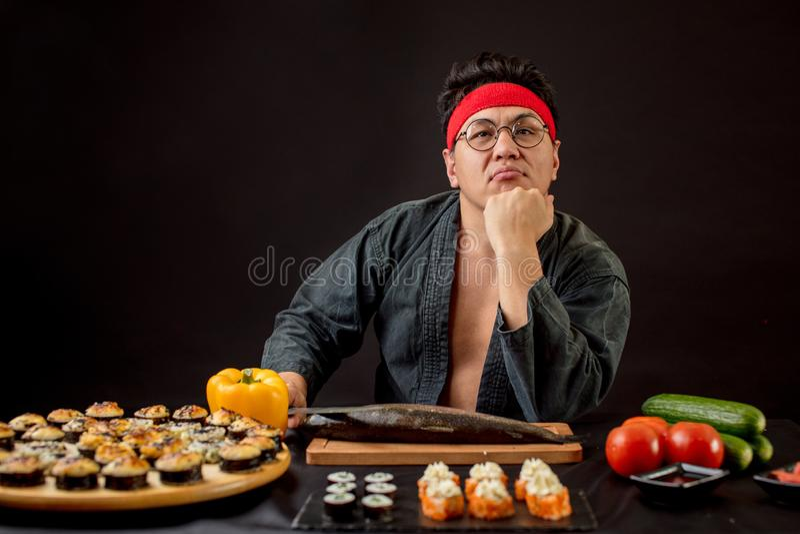 傲慢懒惰厨师不要准备卷 免版税库存图片