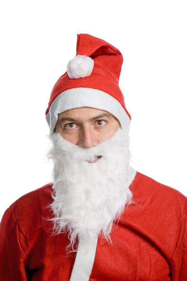 傻的圣诞老人 图库摄影