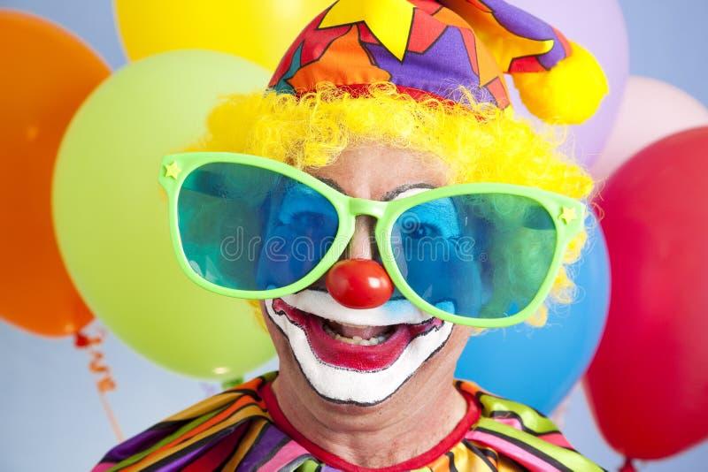 傻的小丑 免版税库存图片