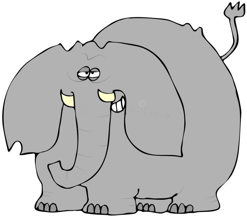 傻笑的大象 皇族释放例证