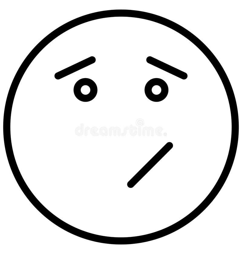 傻笑,注视意思号传染媒介隔绝了可能容易地修改或编辑的象 库存例证
