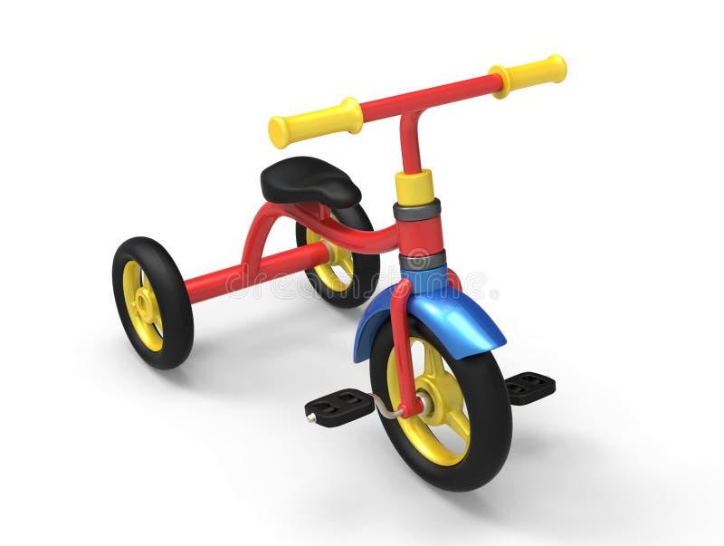 儿童三轮车3D 库存例证