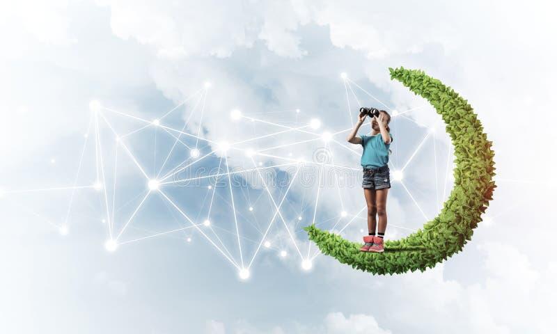 儿童互联网通信或在网上使用和pa想法  向量例证