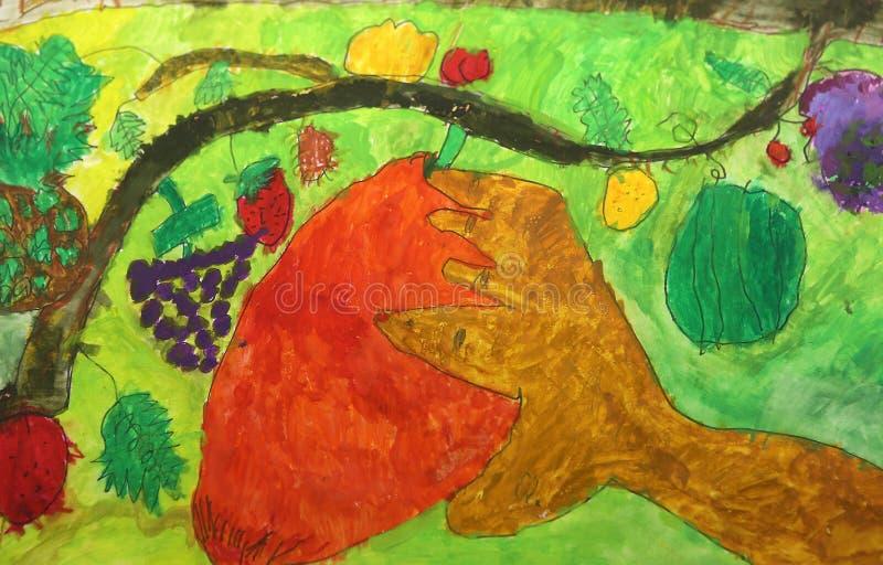 儿童五颜六色的图画 库存照片