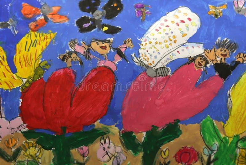儿童五颜六色的图画 免版税库存图片