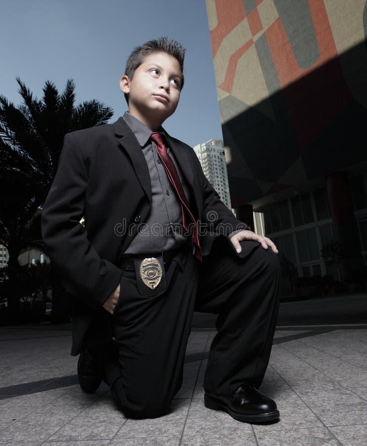 儿童侦探年轻人 免版税图库摄影