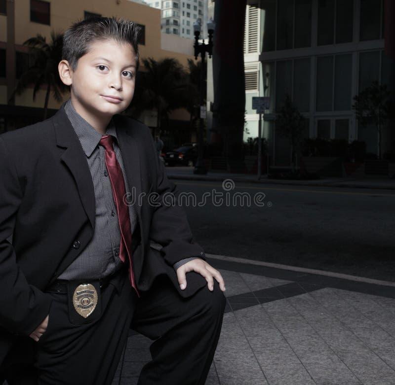 儿童侦探年轻人 免版税库存照片