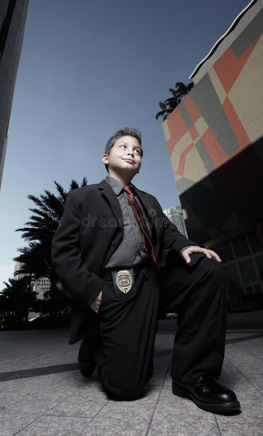 儿童侦探年轻人 免版税库存图片