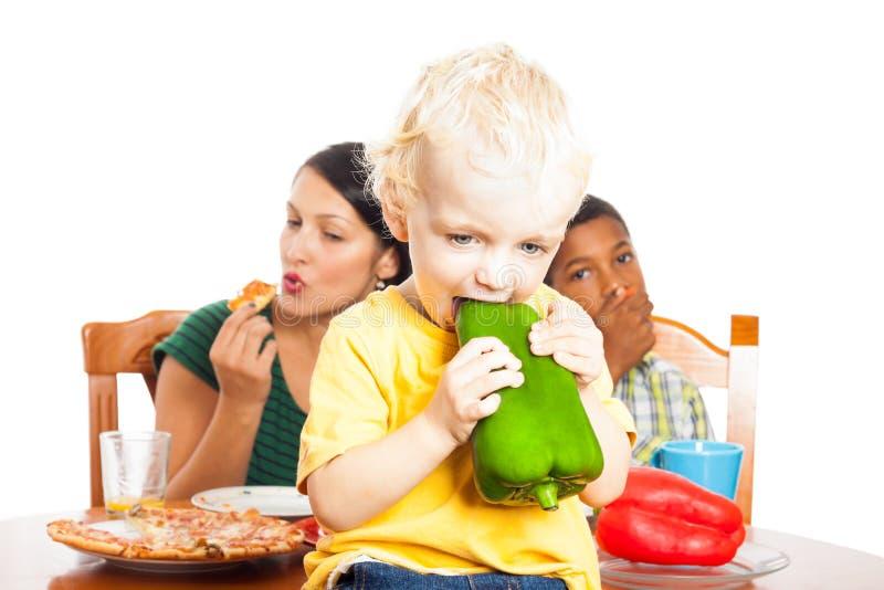 儿童健康吃 图库摄影