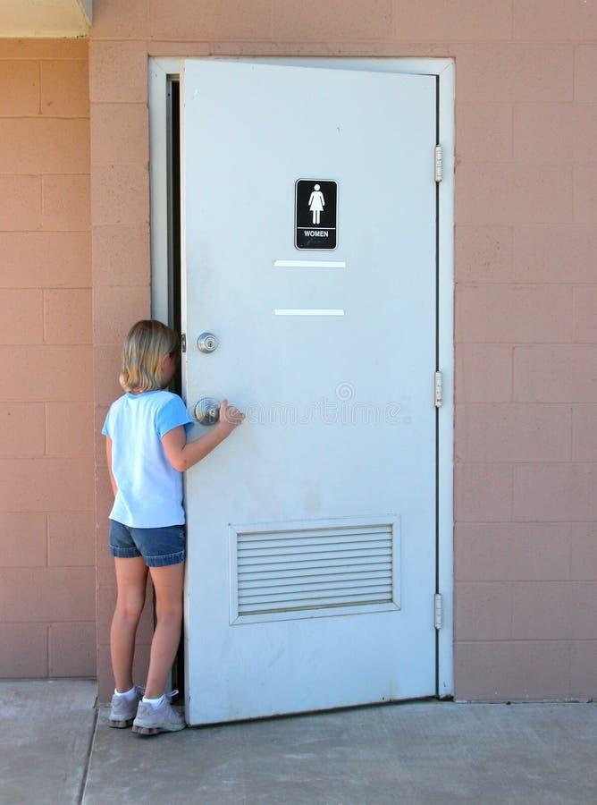 儿童公共厕所 库存照片