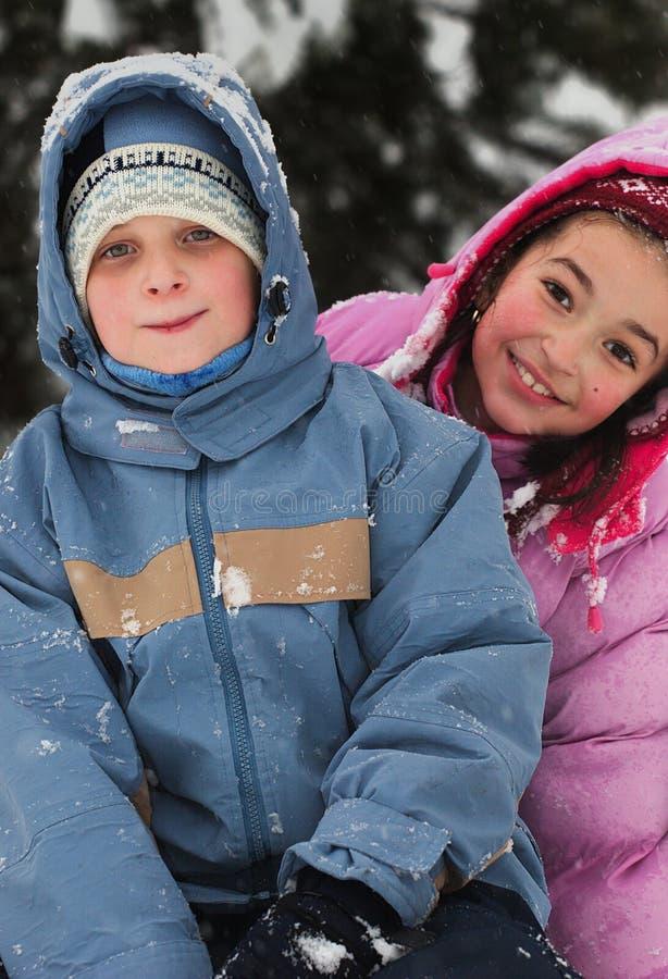 儿童冬天 库存照片