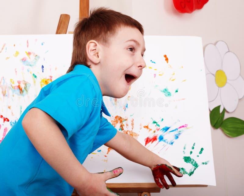 儿童凹道画架现有量 图库摄影