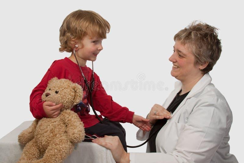 儿童医生夫人 库存照片