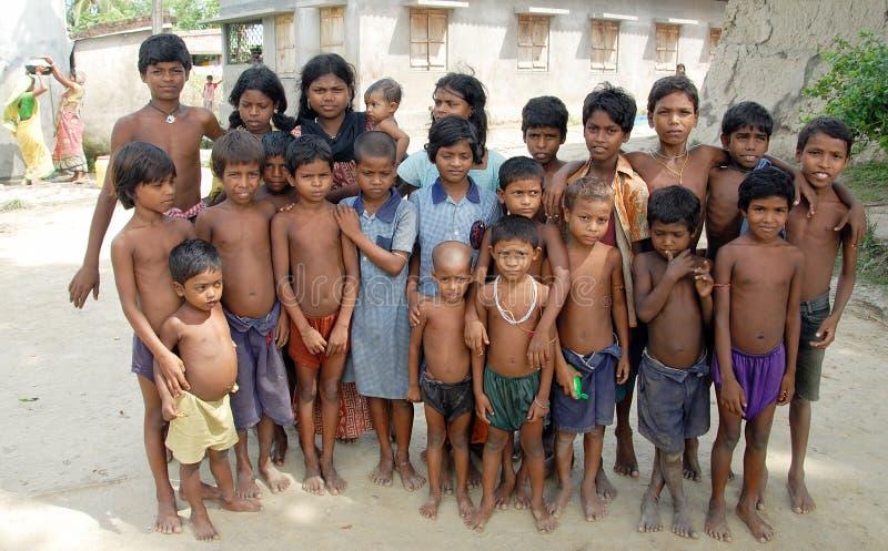 儿童印地安人村庄 免版税库存图片