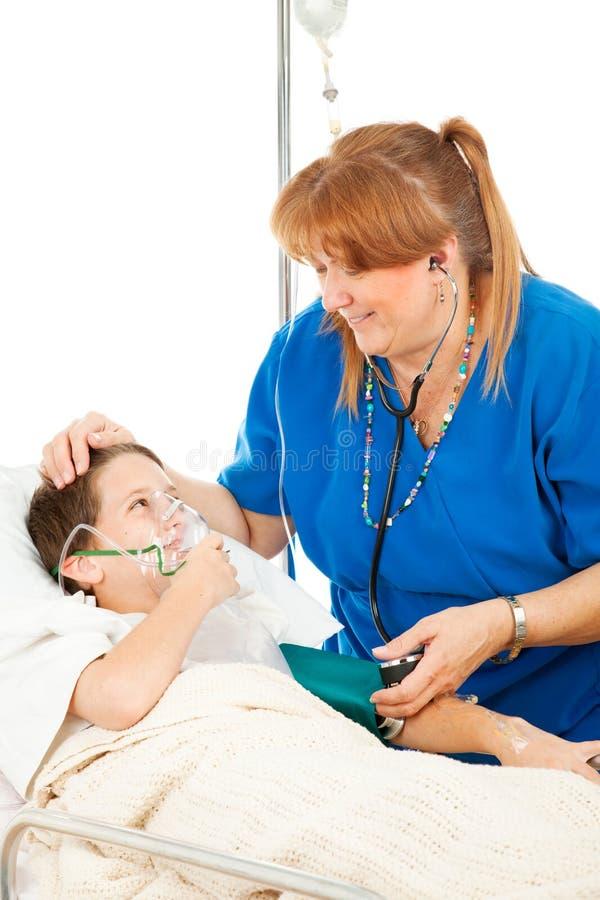 儿童友好护士 免版税库存图片