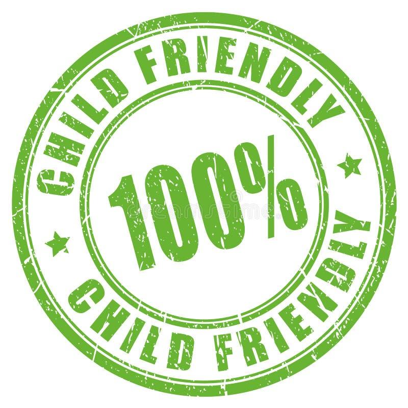 儿童友好的不加考虑表赞同的人 库存例证
