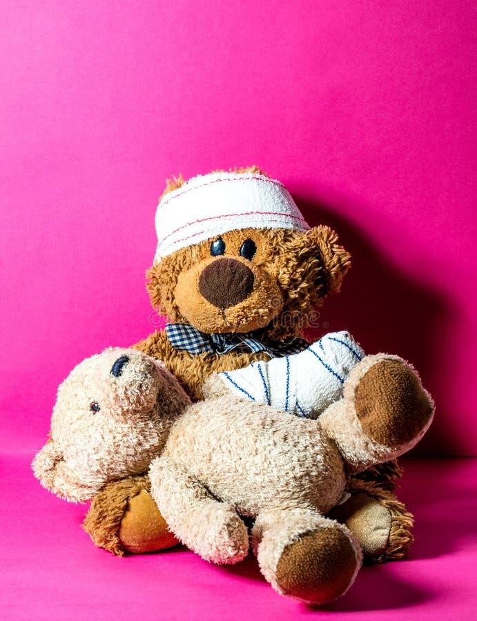儿童友谊和健康协助的概念在医院 库存图片