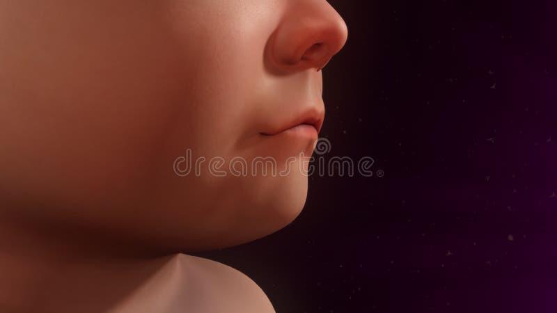 儿童咳嗽 免版税图库摄影