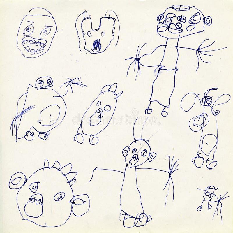 儿童图画s 向量例证