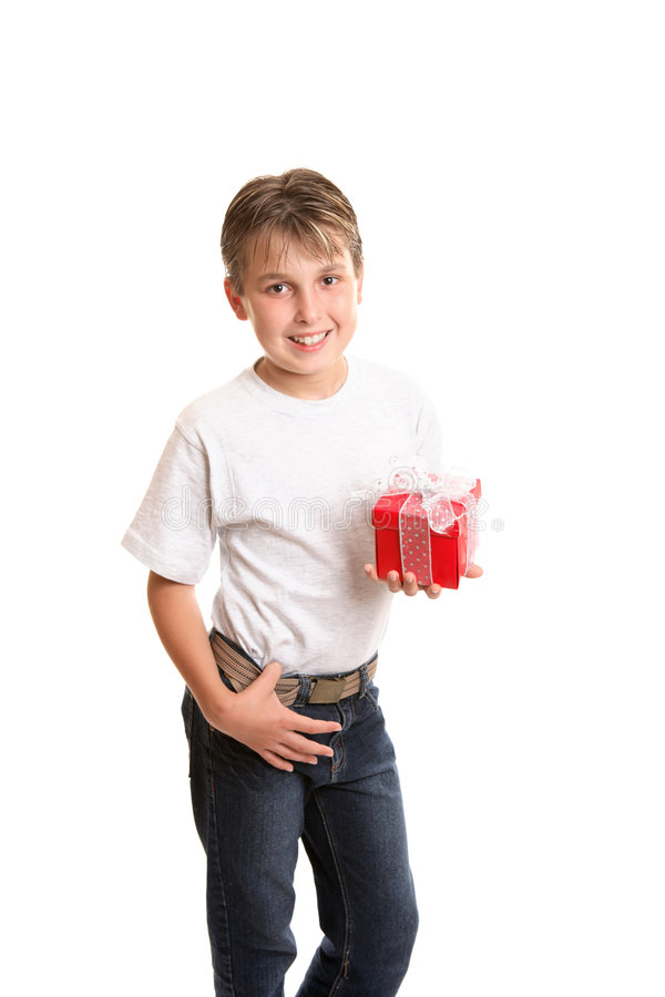 儿童圣诞节礼品藏品 库存图片