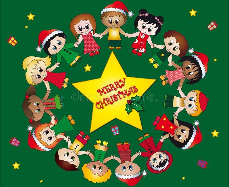 儿童圣诞节 向量例证