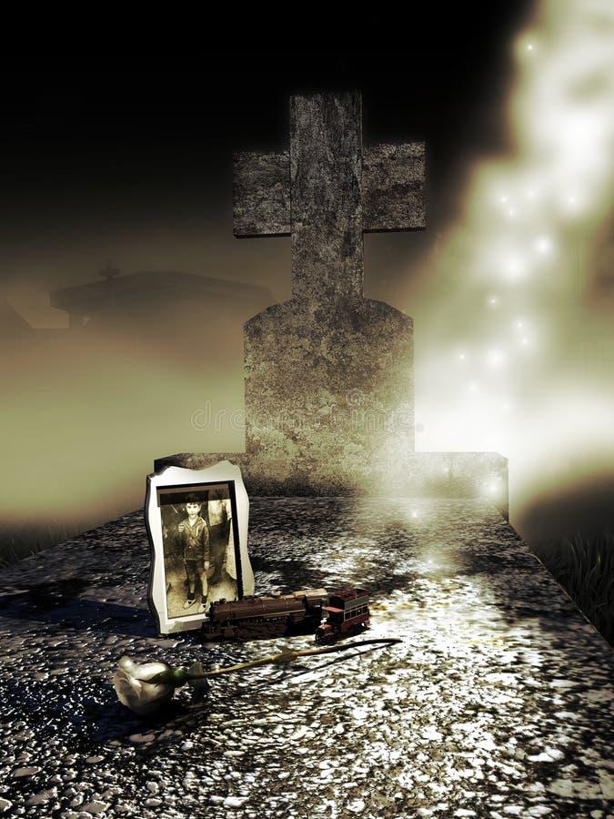 儿童坟墓 库存例证