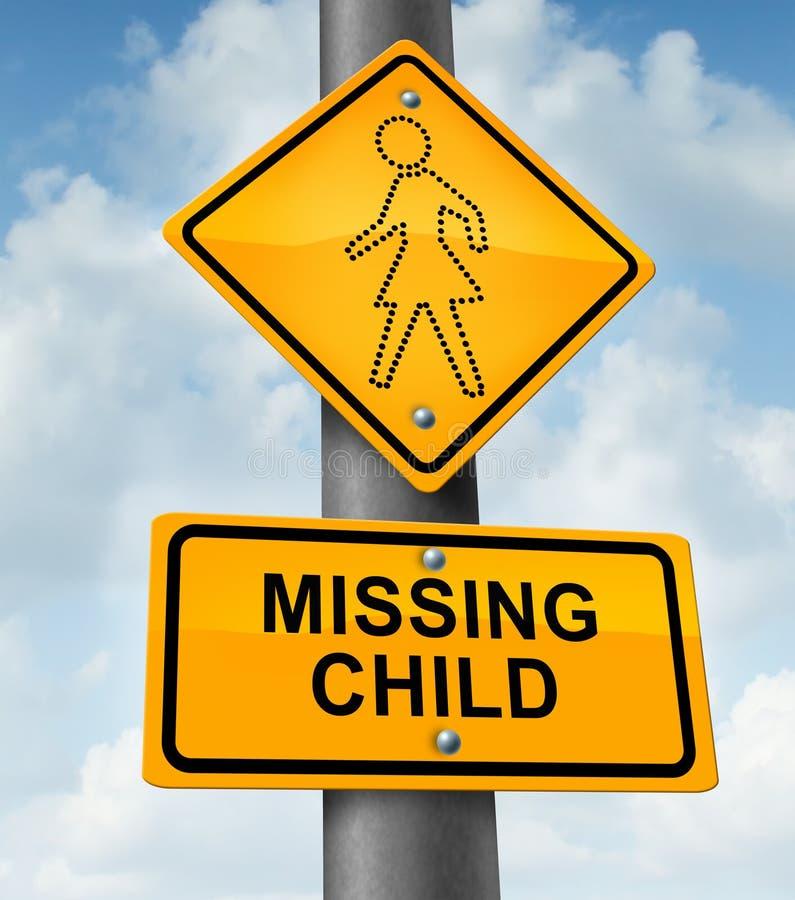 儿童失踪 库存例证
