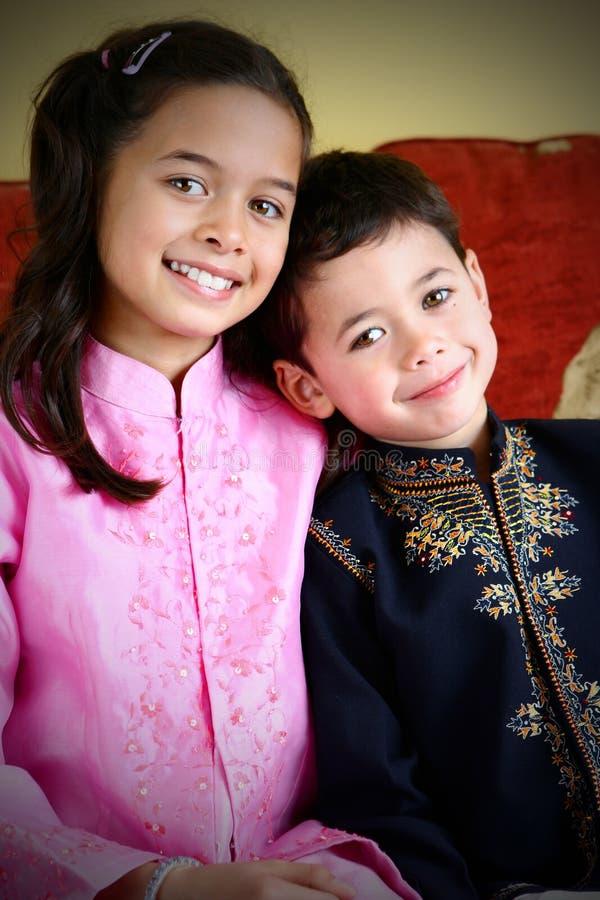 儿童婚姻混合 免版税库存图片