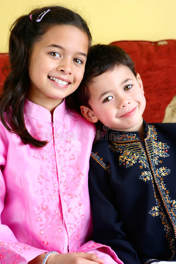 儿童婚姻混合 免版税库存照片