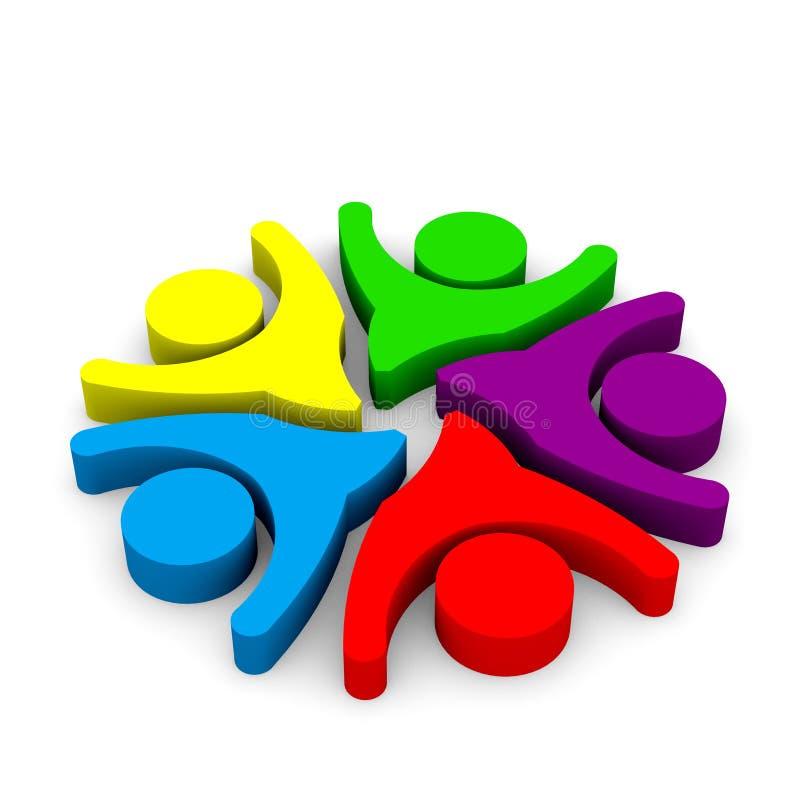 儿童嬉戏的活动例证 向量例证