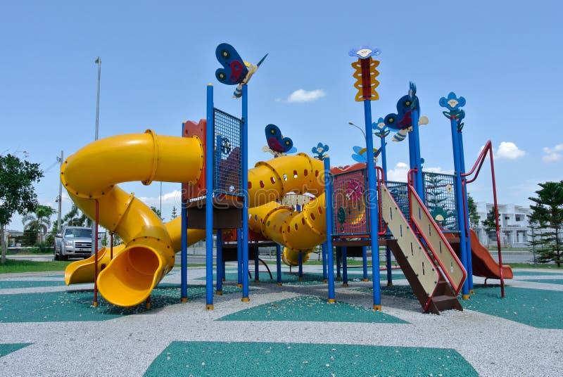 儿童室外操场在芙蓉市 库存照片