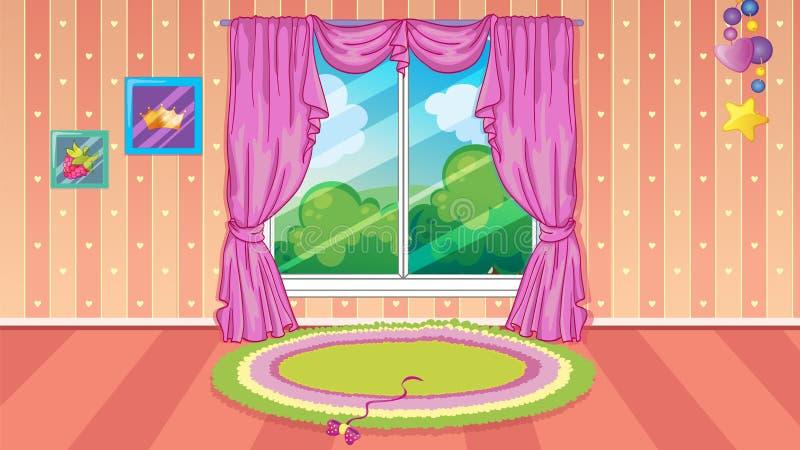 儿童居室比赛背景 皇族释放例证