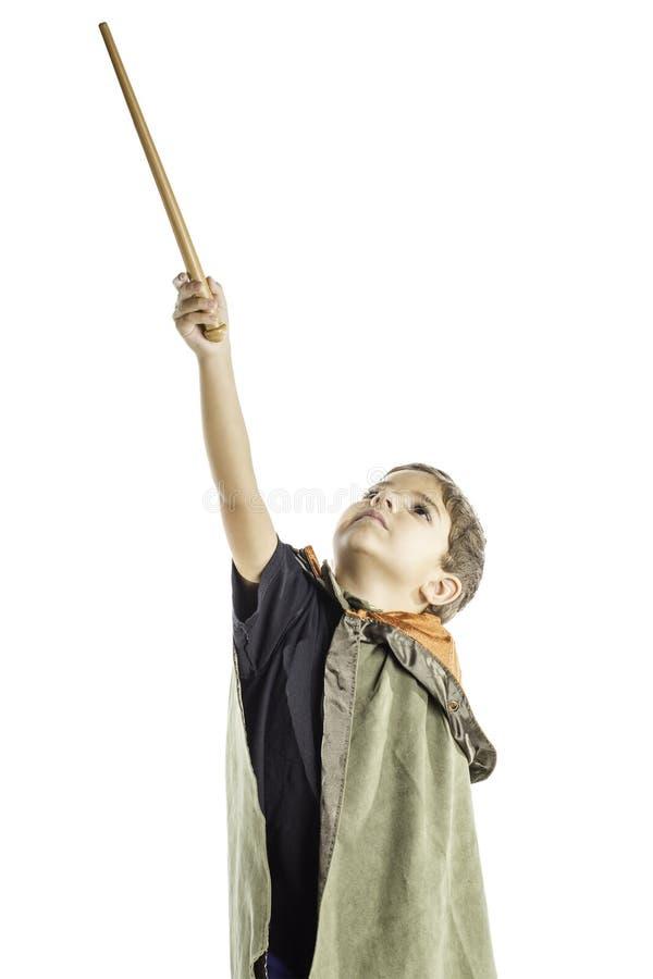 儿童巫术师 库存图片