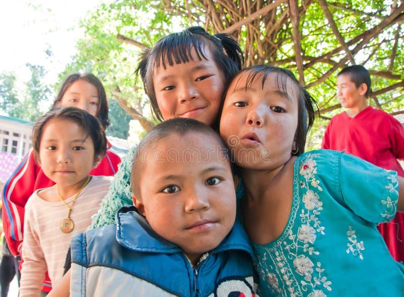 儿童微笑以愉快 库存照片