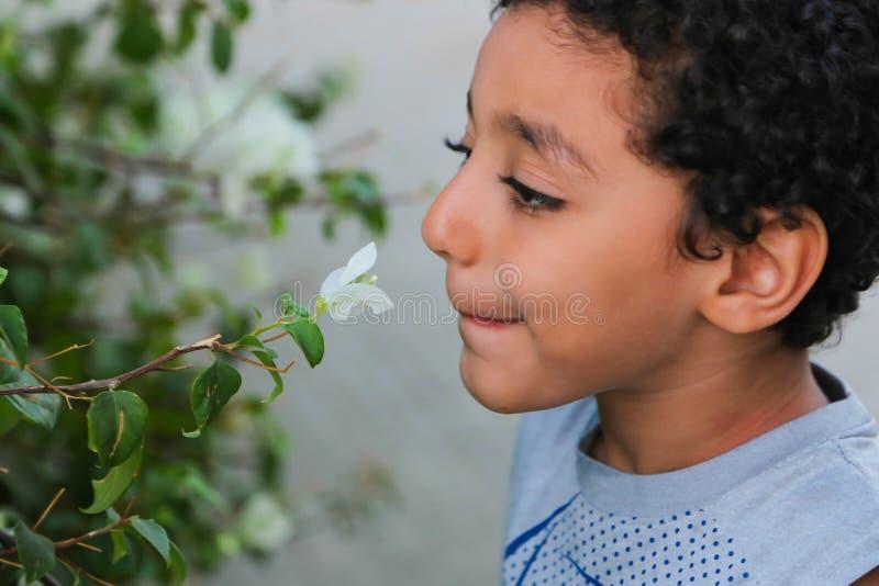 儿童微笑花 免版税库存图片