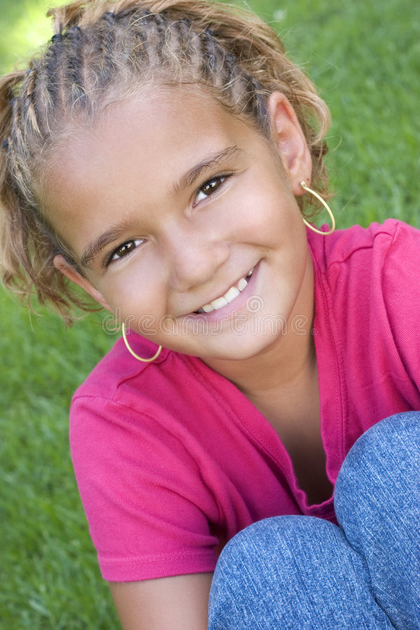 儿童微笑 库存照片
