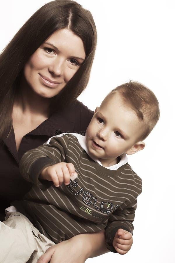 儿童愉快的母亲 库存照片
