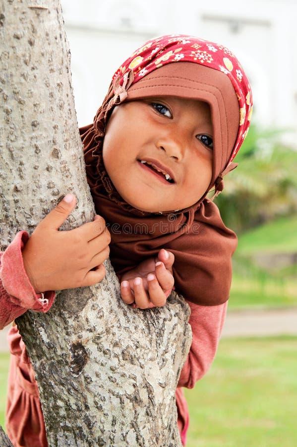 儿童愉快的穆斯林 库存图片