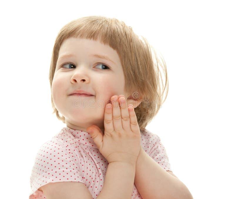 儿童愉快纵向微笑 免版税库存照片
