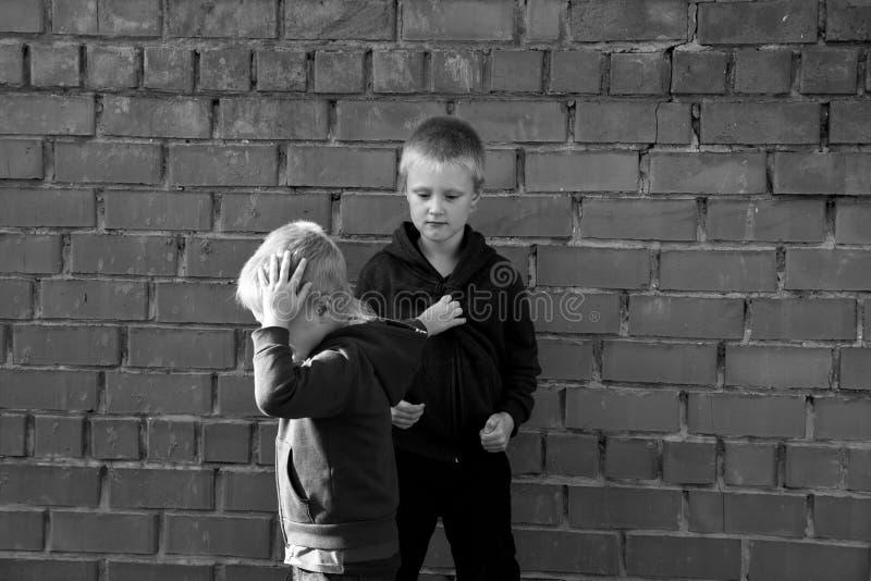 儿童战斗 库存照片